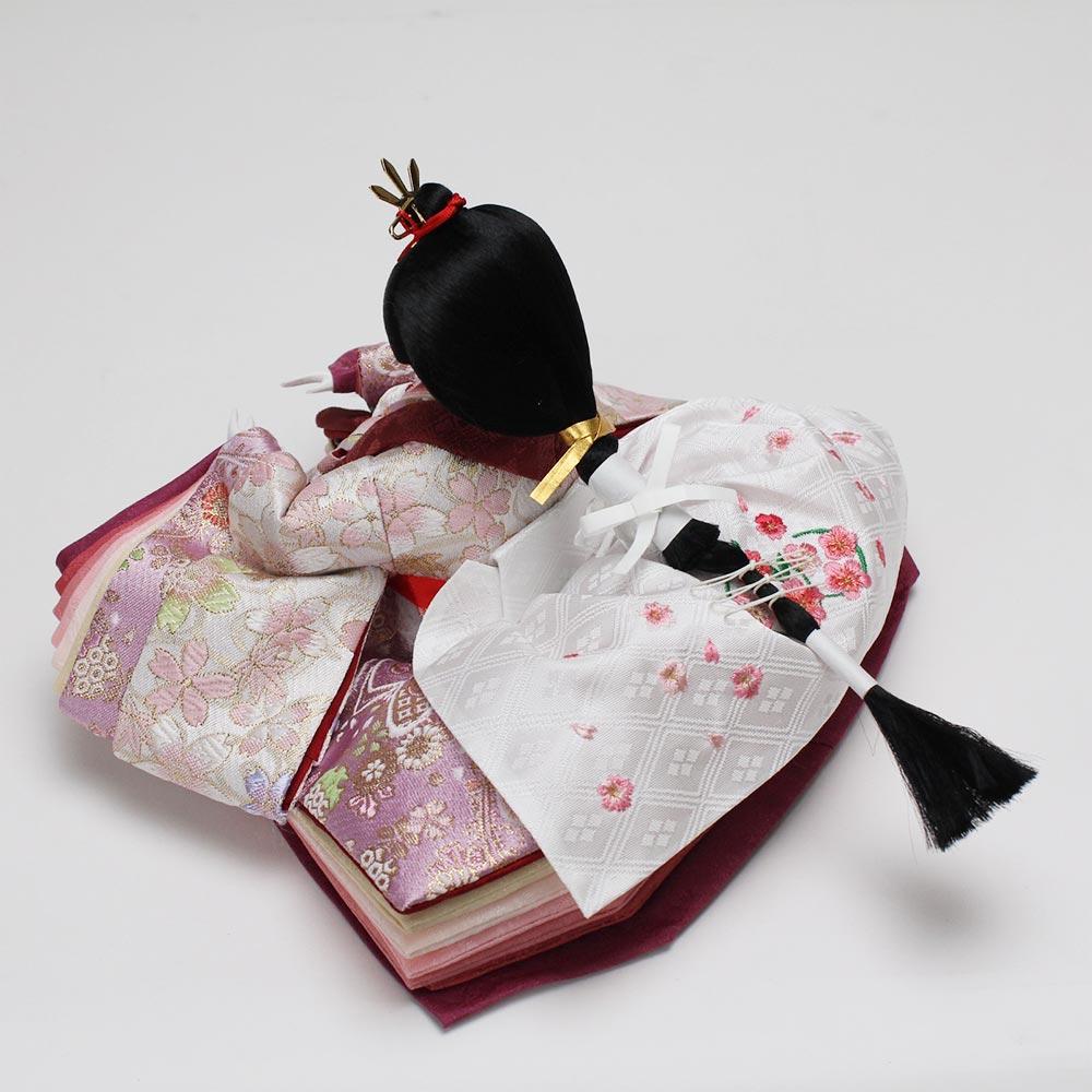 雛人形 お祝い ひな人形 平飾り 台付 木目 白塗 親王飾り 2人飾り 二人飾り 白塗 三曲屏風 白塗 新初桜 おしゃれ かわいい 可愛い コンパクト モダン