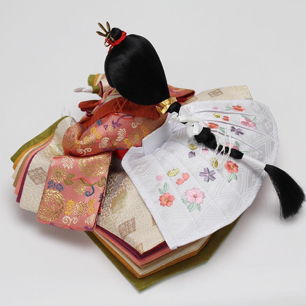 雛人形 お祝い ひな人形 平飾り 台付 紅溜塗 親王飾り 2人飾り 二人飾り バック 金 桜柄 おしゃれ かわいい 可愛い コンパクト モダン
