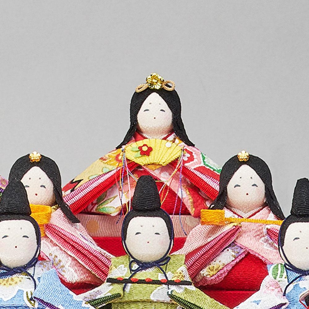 雛人形 ひな人形 お祝い ケース飾り 親王飾り 十人飾り 10人飾り 花の詩 ほほ笑み十人飾 B付き オークアクリルケース おしゃれ かわいい お洒落 可愛い コンパクト