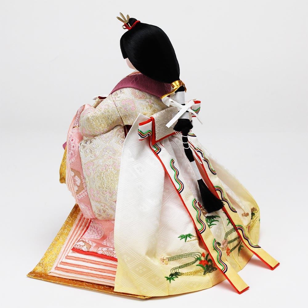 雛人形 お祝い ひな人形 立雛飾り 立ち雛 台付 黒塗 親王飾り 2人飾り 節句人形工芸士 二代目 優香 会津塗り 金箔 バック 桜 おしゃれ かわいい 可愛い モダン