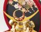 五月人形 5月人形 兜飾り ケース飾り 鳥羽 赤 おしゃれ お洒落 かっこいい コンパクト