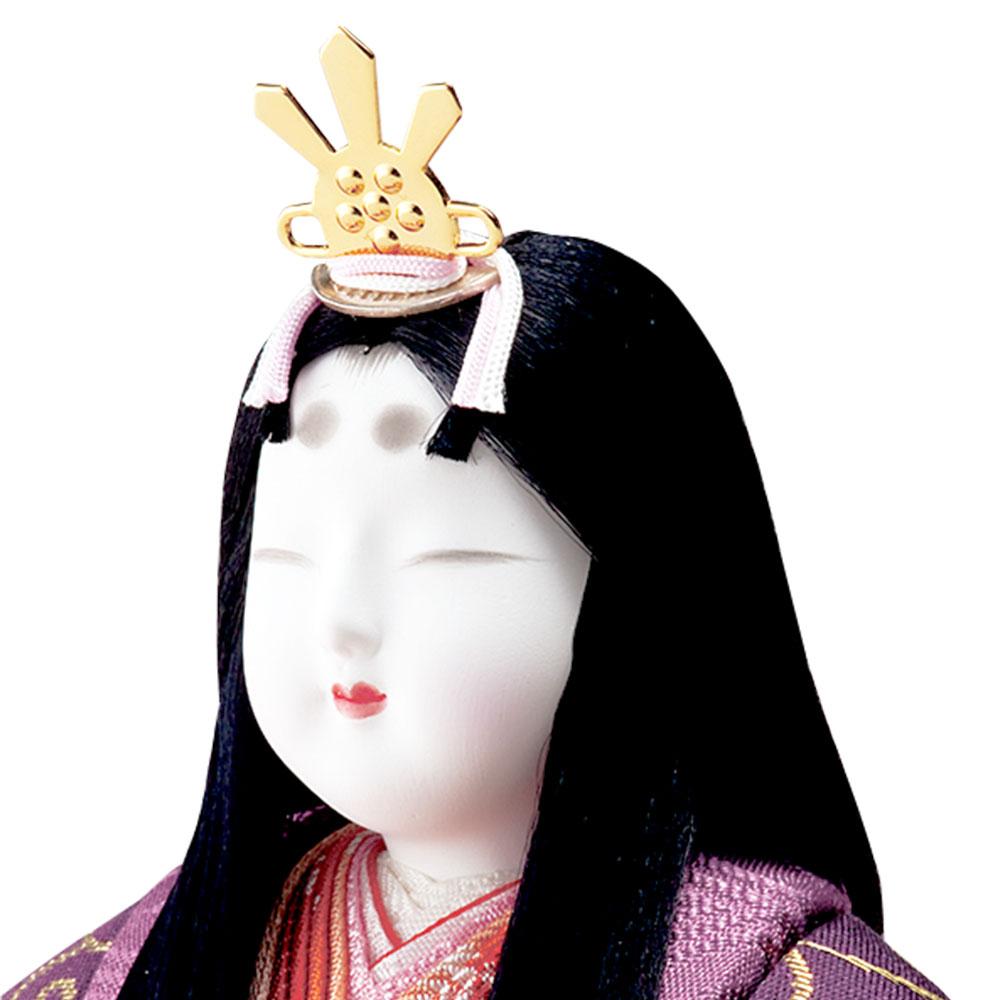 雛人形 真多呂 木目込み 高級 伝統的工芸品 逸品本金立雛・佐賀錦親王・セット本金鳳凰雛 平飾り