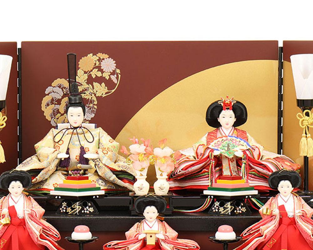雛人形 お祝い ひな人形 収納飾り 3段 三段 5人飾り 五人飾り 木目 白塗 五人収納箱飾り 背面扉式収納箱 三曲屏風 おしゃれ かわいい 可愛い モダン