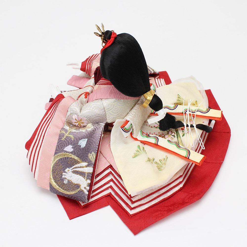 雛人形 お祝い ひな人形 収納飾り 親王飾り 2人飾り 二人飾り 親王収納箱飾り 節句人形工芸士 二代目 優香 おしゃれ かわいい 可愛い コンパクト モダン