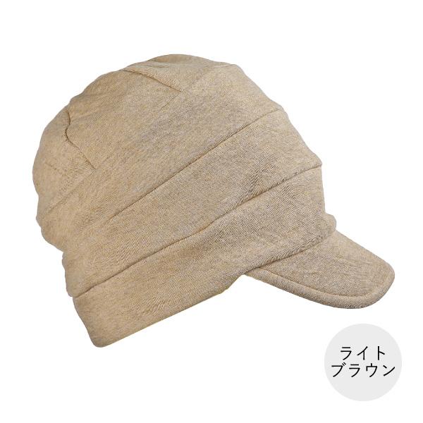 髪付き帽子でお出かけセット_キャスケット