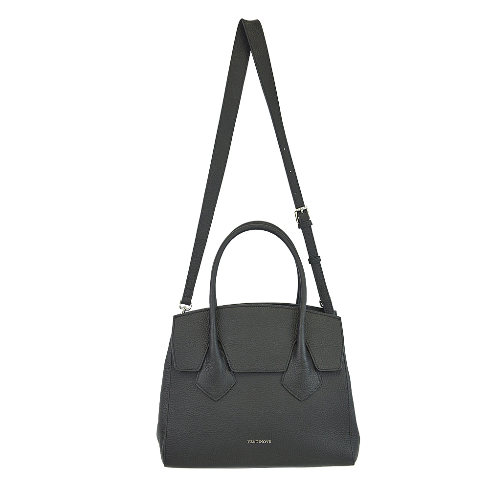 leather flap handbag