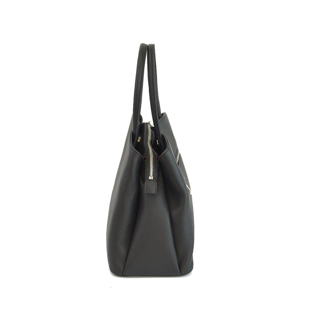 leather simple handbag