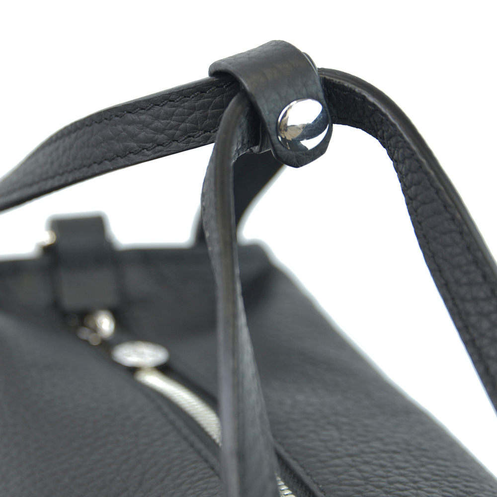 leather square handbag