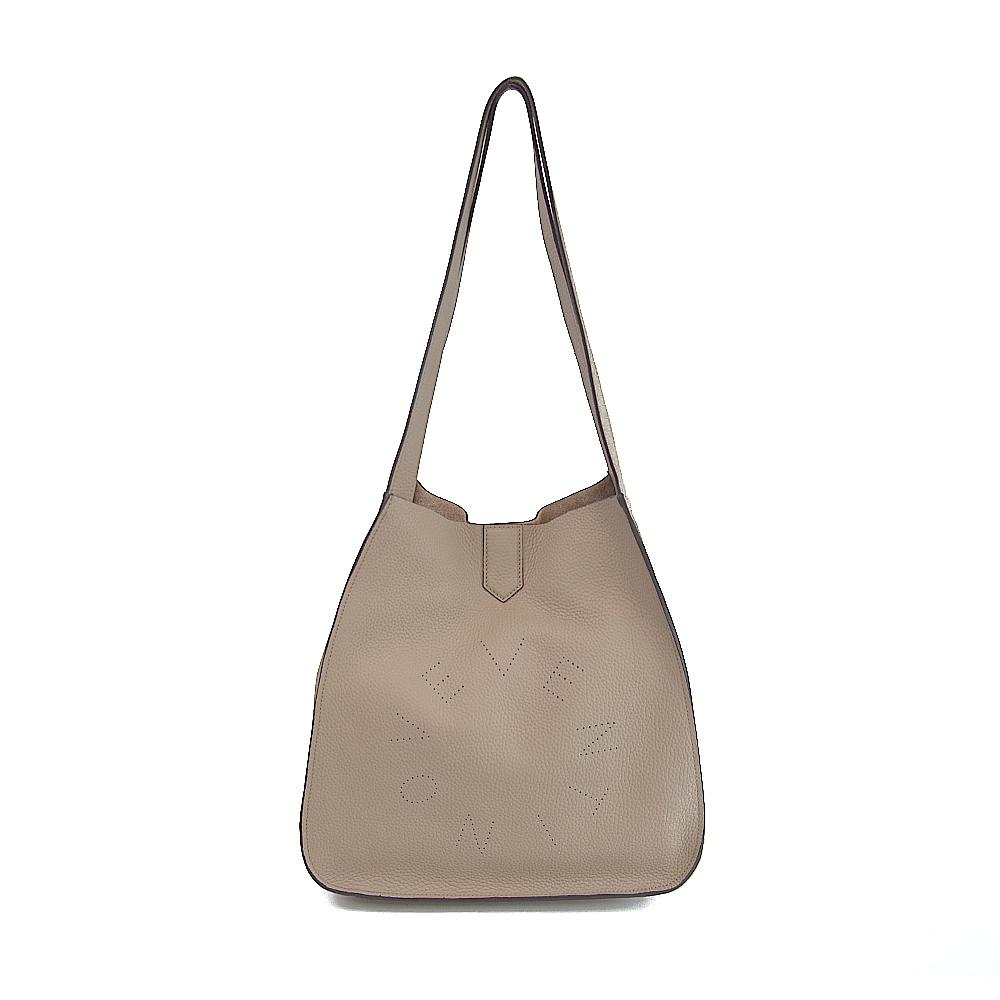 leather logo tote bag