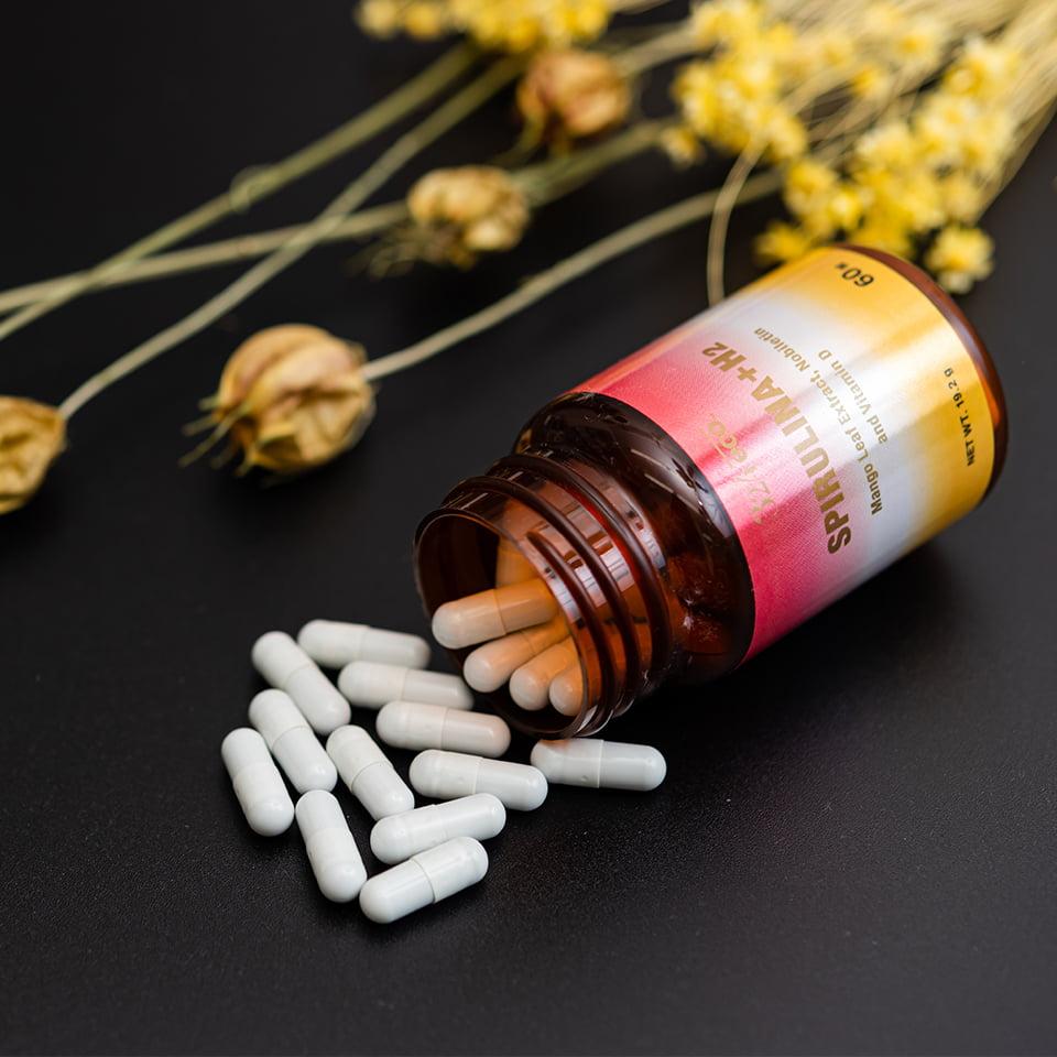 324抗酸化サプリ SUPIRULINA+H2