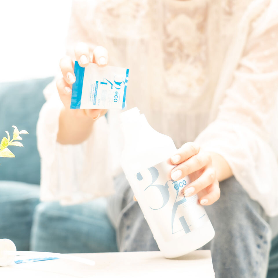 ecoPURE / 5g × 2 + 500ml専用ボトル 1セット