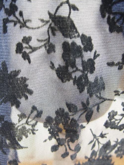 メッシュフラワーエアリ-プルオンスカート(フロッキー)