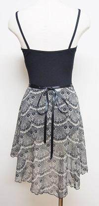 フランドルレースプリント巻きスカート