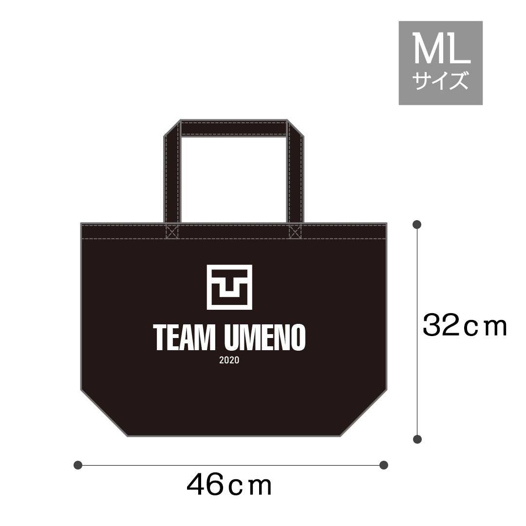 TeamUMENOキャンパストートバック