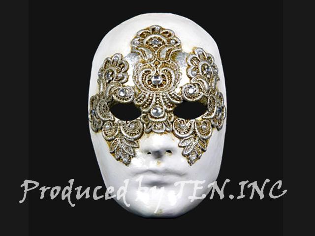 ベネチアンマスク Volto Macrame Maschile Silver