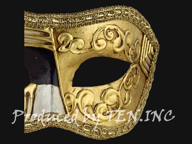 ベネチアンマスク Colombina Art Deco Black