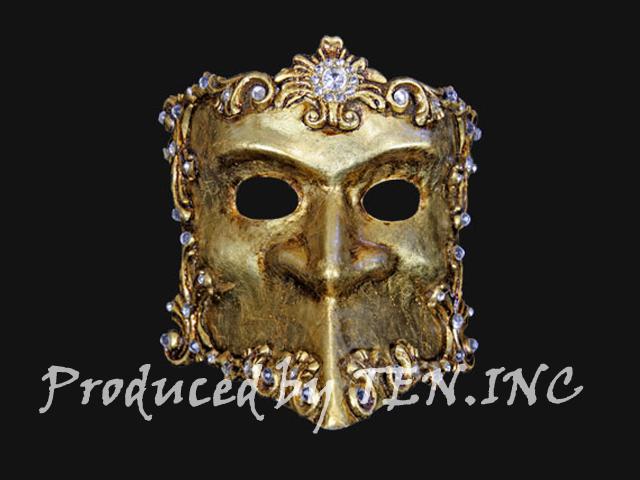 ベネチアンマスク Bauta Barocco Gold