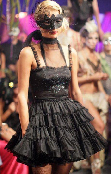 ベネチアンマスク Swan Lux Black