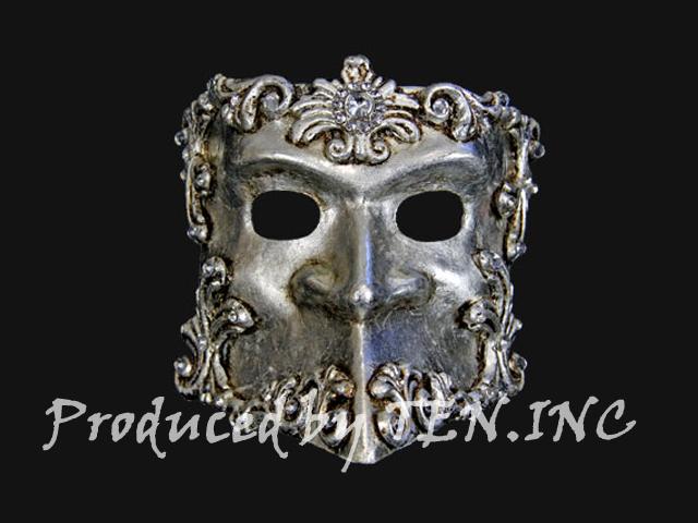 ベネチアンマスク Bauta Barocco Silver