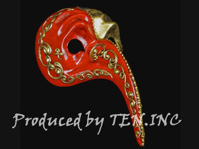 ベネチアンマスク Naso Turco Gold Red