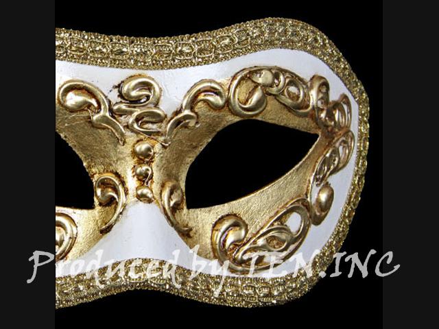 ベネチアンマスク Colombina Occhi Gold