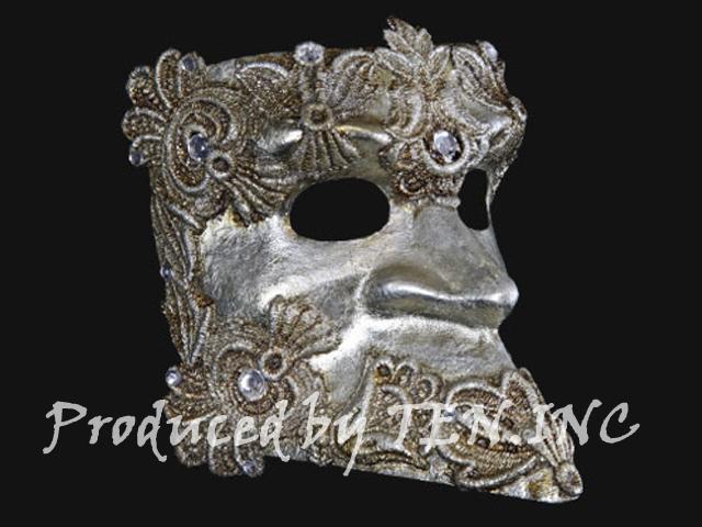 ベネチアンマスク Bauta Macrame Silver