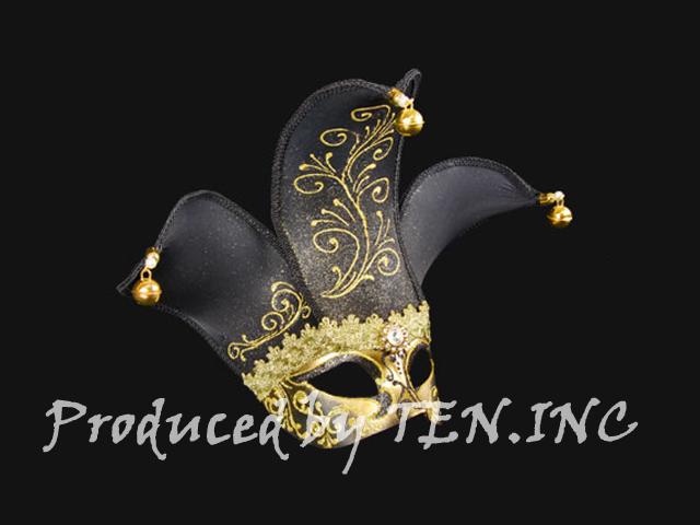 ベネチアンマスク Colombina Velo Black