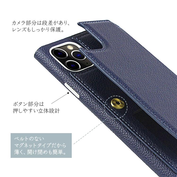 iPhone 12 Pro Max 背面ポケット鏡ストラップ付