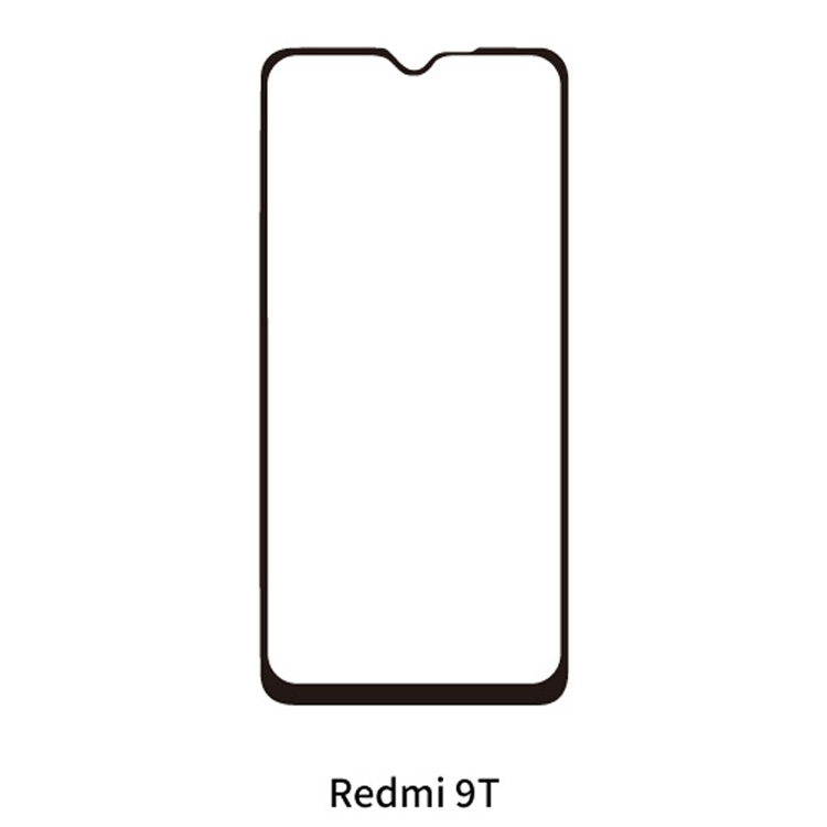 Redmi 9T 旭ガラスフィルム 2.5Dフィルム