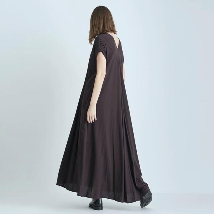 ATON/FRESCA ZERO DRAPED DRESS