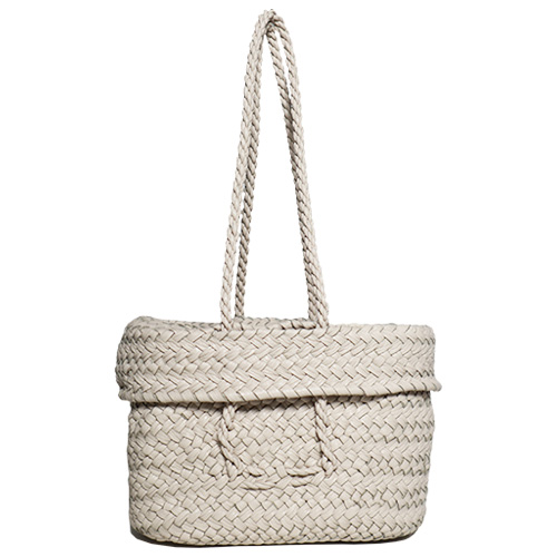 Aeta/KG10 LEATHER LIDDED BASKET S