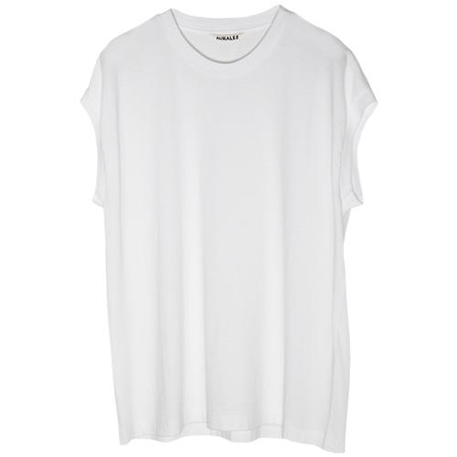 AURALEE/seamless crew neck sleeveless