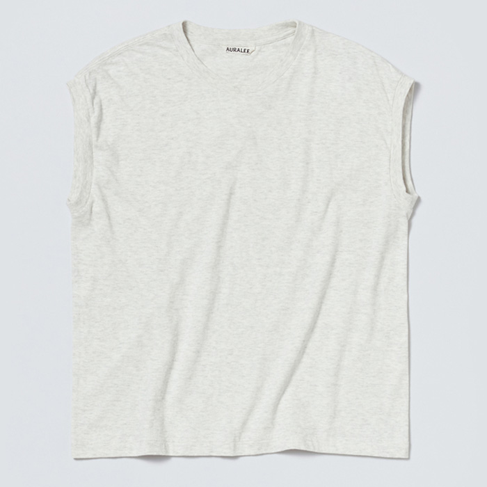 AURALEE/seamless crew neck sleeveless