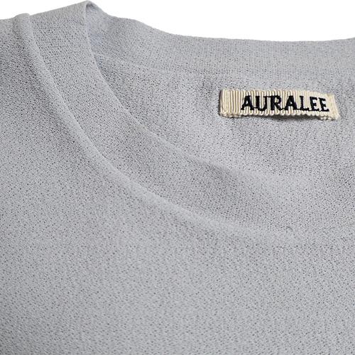 AURALEE/Hand twist amunzen double cloth tee