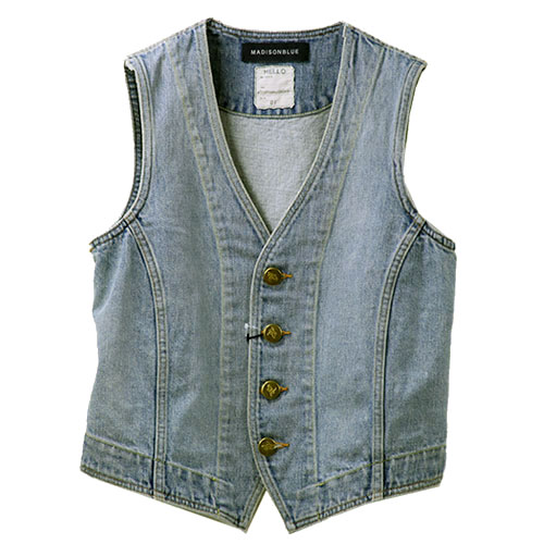 MADISONBLUE/denim vest