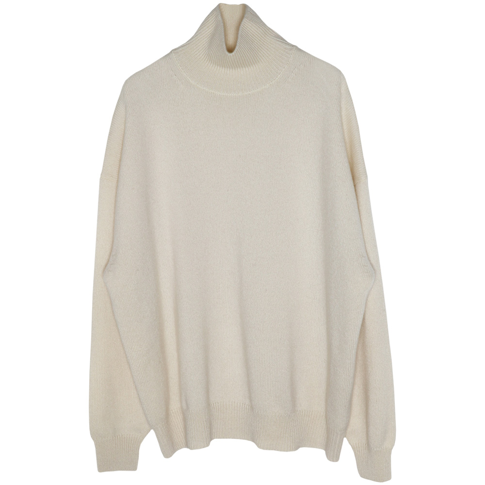 AURALEE/BABY CASHMERE KNIT TURTLE NECK PULL OVER