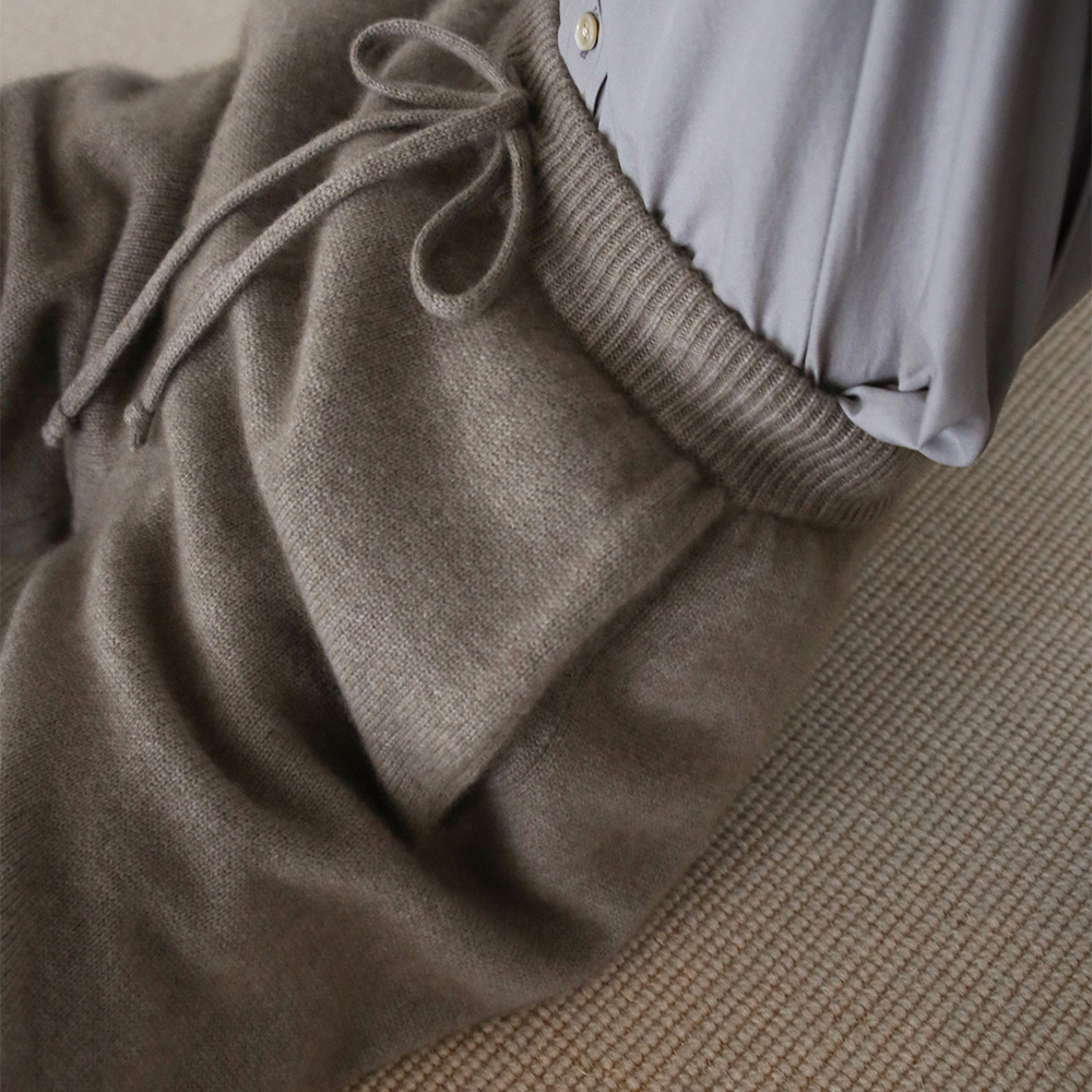 AURALEE/BABY CASHMERE KNIT PANTS