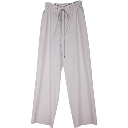 AURALEE/WASHED FINX TWILL EASY WIDE PANTS