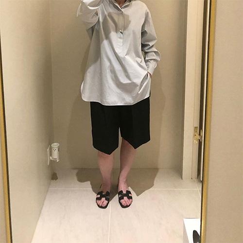 ATON/LINEN WEATHER BASIC SHORT PANTS