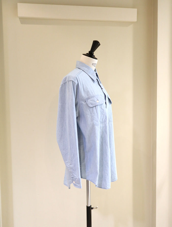 MADISONBLUE/HAMPTON CHAMBRAY SHIRT(VW)