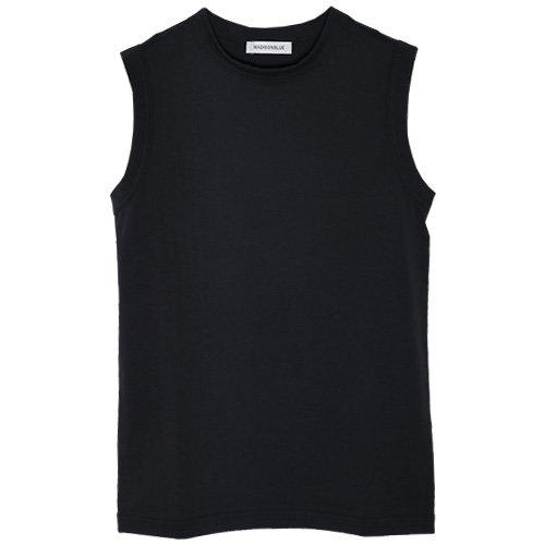 MADISONBLUE/CREW NECK SLEEVELESS TEE BIO