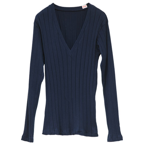 YOUNG&OLSEN The DRYGOODS STORE/BROAD RIB V NECK LS