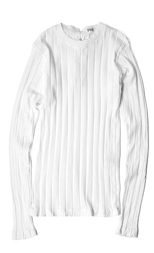 YOUNG&OLSEN OLSEN DRYGOODS STORE/BROAD RIB BACKLACE LS
