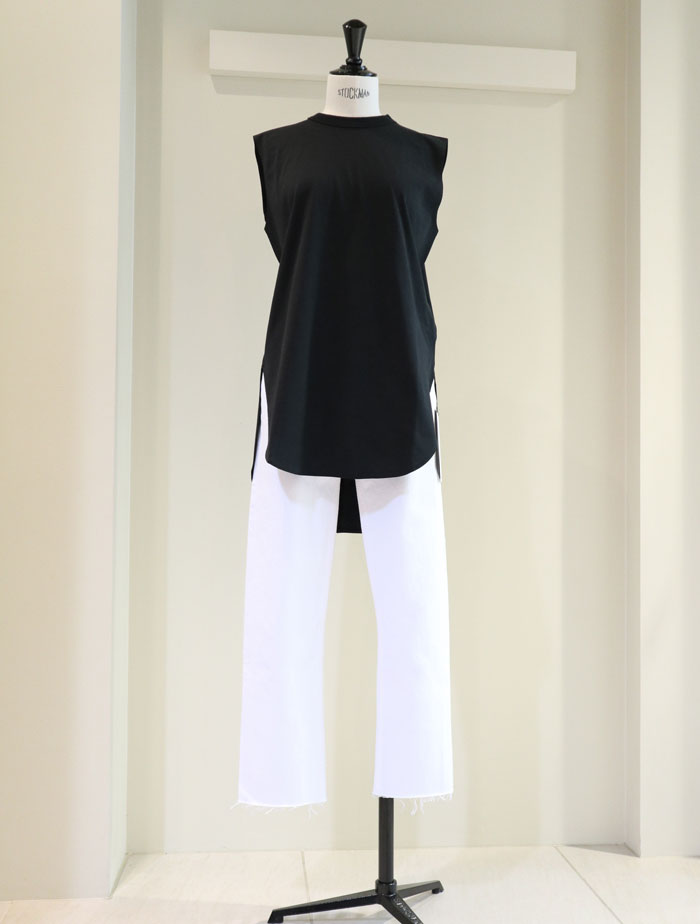 ATON/SUVIN AIR SPINNING ROUND HEM TANK TOP 再入荷