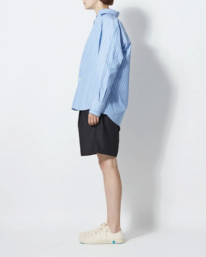 ATON/COTTON TWILL OVERSIZED SHITS