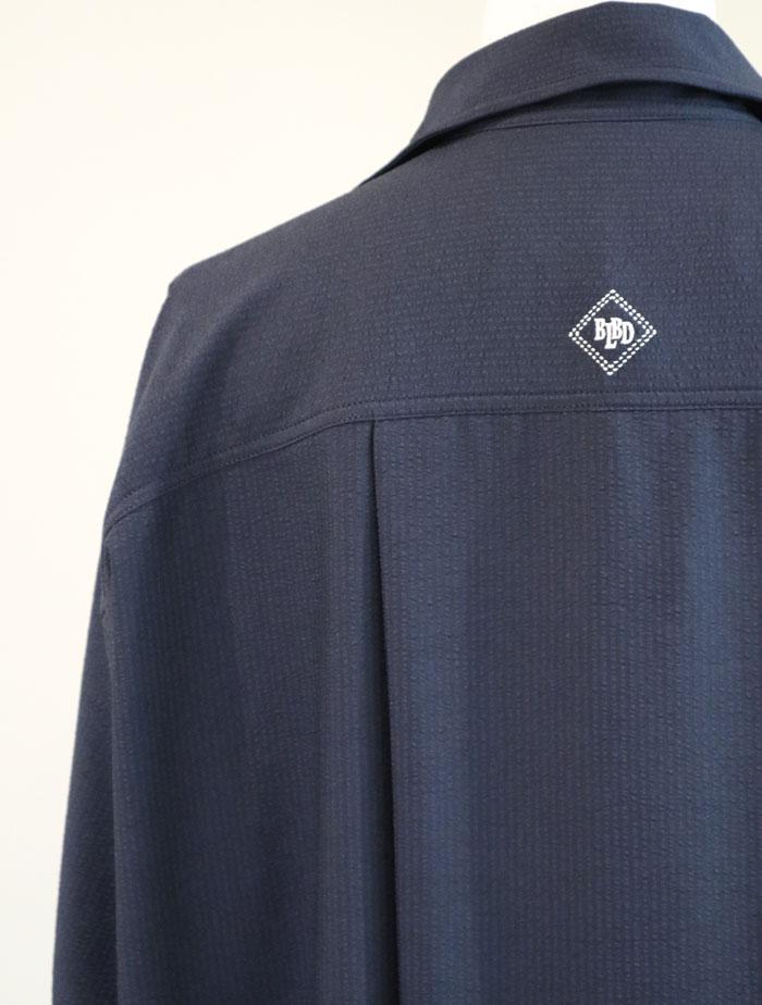BLUEBIRD BOULVARD/DRY TOUCH SEERSUCKER SHIRT DRESS