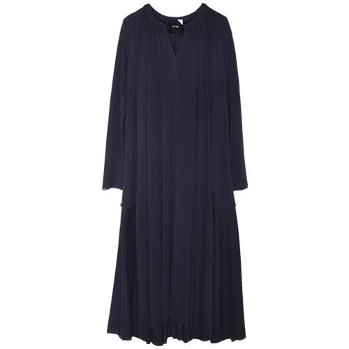 ATON/FRESCA KANOKO GATHERED DRESS