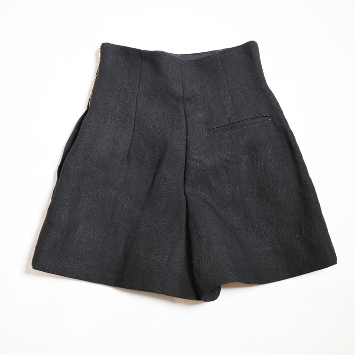 MADISONBLUE/HIGH WAIST SHORTS HAVY LINEN