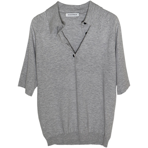 MADISONBLUE/KNIT POLO