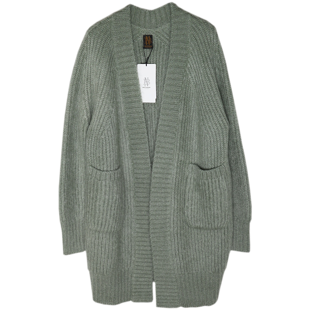 BATONER/SUPER KID MOHAIR RIB GOWN CARDIGAN